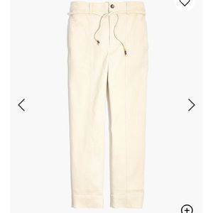 Madewell Tie Waist Tapered Pants